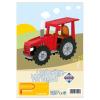 Laubsägevorlage Traktor
