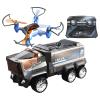Drohne Mission mit Truck
