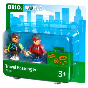 Bahn Reisende mit Koffer