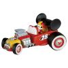 Rennfahrer Micky im Auto