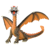Drache sitzend orange