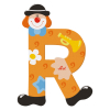 Buchstabe Clown R