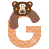 Buchstabe G Grizzly Bär
