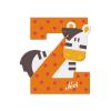 Buchstabe Z Zebra