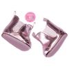 Puppenschuhe metallic pink
