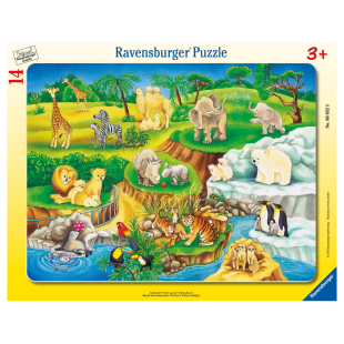 Puzzle Zoobesuch