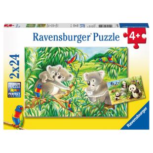 Puzzle Süsse Koalas u.Pandas