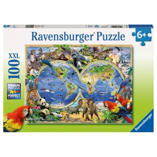Puzzle Tierisch um die Welt