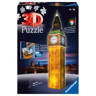 Puzzle 3D Big Ben bei Nacht