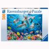 Puzzle Delfin im Korallen-