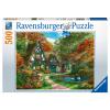 Puzzle Cottage im Herbst