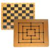 Schach/Mühlebrett bedruckt