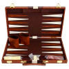 Backgammon Koffer braun
