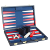Backgammon Koffer blau