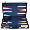 Backgammon Koffer blau gross