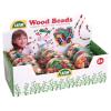Holzperlen in Herzdose