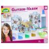 Glitzer Vasen inkl. Farben