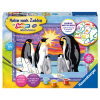 Malset Pinguinfamilie
