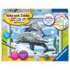 Malset Freundliche Delfine