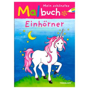 Malbuch Einhörner
