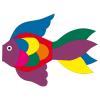 Windsack Fisch Rainbow