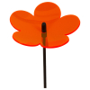 Flower 3D orange, 20 cm