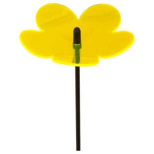 Flower 3D gelb, 20 cm