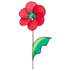 Windspiel Poppy Flower