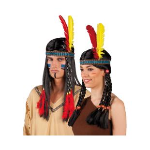 Stirnband Indianer m. Federn