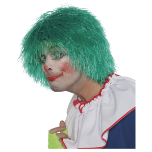 Perücke Clown Fransen grün