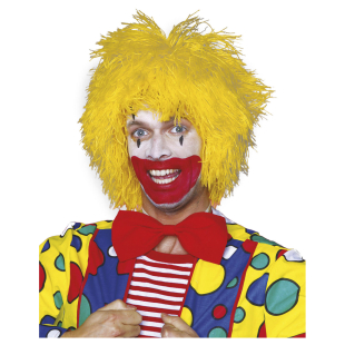 Perücke Clown Fransen gelb