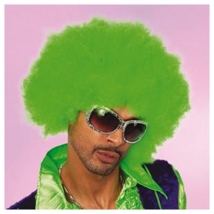Perücke Super Afro grün
