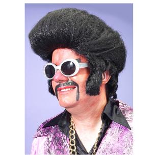 Perücke Elvis, schwarz