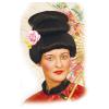 Perücke Asien Dame mit Blume