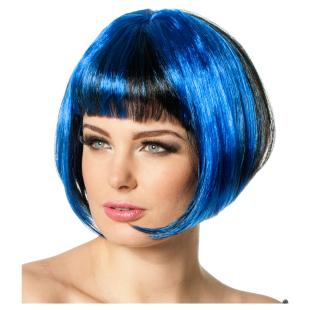 Perücke Bobline neon blau
