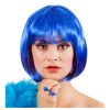 Perücke Bobline, blau