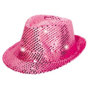 Hut Pailletten LED pink