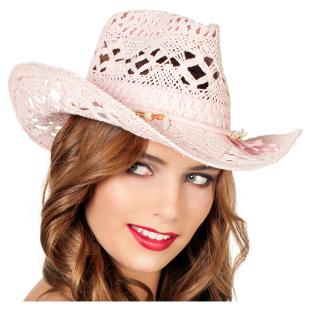 Cowboyhut Damen Spitze rosa