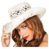 Cowboyhut Damen Spitze weiss