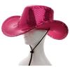 Cowboyhut Pailletten pink