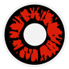 Kontaktlinse rote Explosion