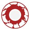 Kontaktlinse roter Zombie