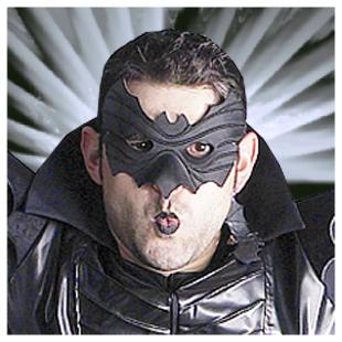 Loup Fledermaus, schwarz