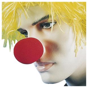 Clownnase Schaumstoff, rot