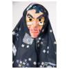 Maske Hexe mit Tuch