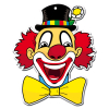 Dekomaske Clown Leo