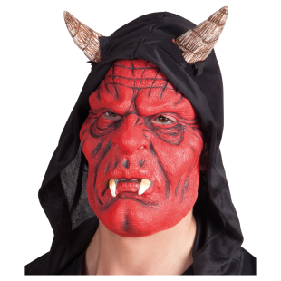 Maske Teufel mit Kapuze