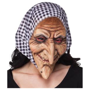 Maske Hexe mit Kopftuch