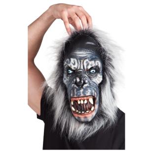 Maske Gorilla mit Fell