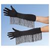 Handschuhe Satin schwarz